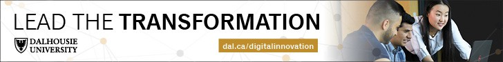 """Advertisement for people who want to """"Lead the Transformation"""" at Dalhousie University by applying to Dal's Faculty of Computer Science"""